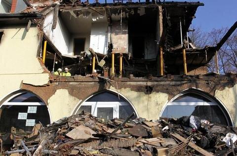 <p> Das Haus war erheblich zerstört worden</p>