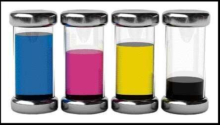 <p> Die Farbmischung erfolgt Schritt für Schritt durch Übereinanderdrucken der vier Grundfarben Cyan, Magenta, Gelb und Schwarz.</p> <p> </p>