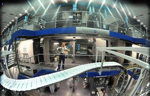 <p> Die Drucktechnik vom Typ Colorman XXL erlaubt einen durchgehenden Vierfarbdruck in hoher Geschwindigkeit. Sie zählt zu den modernsten Druckmaschinen Europas.</p>
