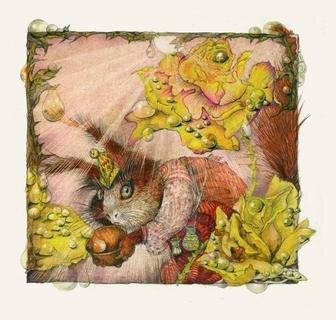 <p> Satte Farben und Liebe zum Detail: Die Illustration entstand für eine 1996 aufgelegte Ausgabe von Wilhelm Hauffs Zwerg Nase.</p>