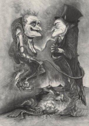 <p> Die bebilderte Ausgabe &quot;Die Sorgen des Teufels&quot; lief 1979 im Plauener Sachsendruck-Werk durch die Pressen.</p>