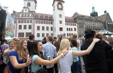 <p> Zehntausende Besucher haben am Samstag das Stadtfestprogramm in Chemnitz genossen.</p>