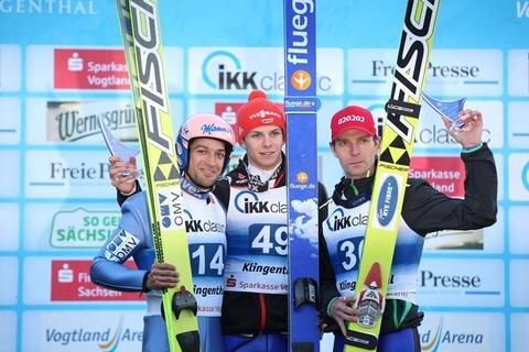 <p> Der Bayer gewann mit 261,9 Punkten vor Team-Olympiasieger Andreas Kofler (Österreich/257,5) und Rückkehrer Janne Ahonen (Finnland/245,0).&nbsp;</p>