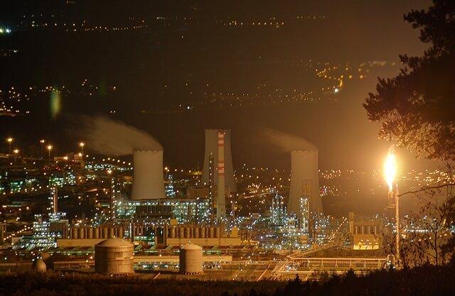 <p> Auch Fotograf Kristian Hahn machte Bilder zum Geschehen: Blick auf den Industriepark Litvinov.</p>
