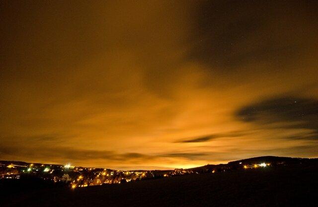 <p> Der Nachthimmel über Seiffen.</p>