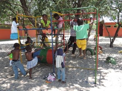 <p> Spielplatz der Mayana-Mpora-Vorschule</p>