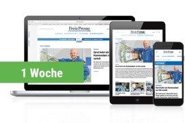 <p><strong>Digital Lesen</strong><br /> Lesen Sie während Ihrer Urlaubszeit kostenfrei die digitale Ausgabe der Freien Presse. Geben Sie Ihre E-Mail-Adresse an und Sie erhalten die Zugangsdaten per Mail zugeschickt. (Nur für Kunden, die noch kein Digitalabo nutzen)</p>