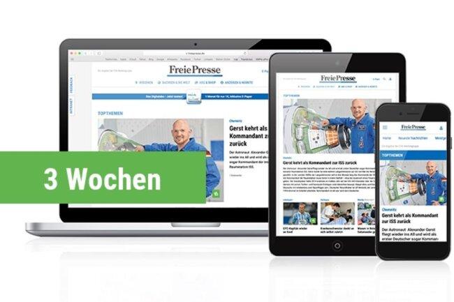 <p><strong>Digital Lesen / E-Paper</strong><br /> Lesen Sie während Ihrer Urlaubszeit kostenfrei die digitale Ausgabe der Freien Presse. Geben Sie Ihre E-Mail-Adresse an und Sie erhalten die Zugangsdaten per Mail zugeschickt. (Nur für Kunden, die noch kein Digitalabo nutzen)</p>