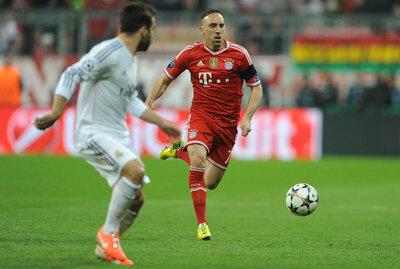 <p> Ribery im Vorwärtsgang - an diesem Abend zu selten zu sehen. Er wurde ausgewechselt.</p>