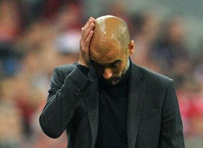 <p> Ratlos: Bayern-Trainer Pep Guardiola.</p>