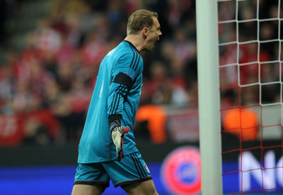 <p> Wütend: Torhüter Manuel Neuer.</p>