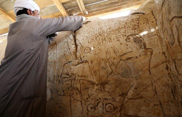 """<p> Ägyptische Forscher haben in der Nähe der Pyramiden von Sakkara das Grab eines """"Außenministers"""" aus der Ramessidenzeit entdeckt.</p>"""