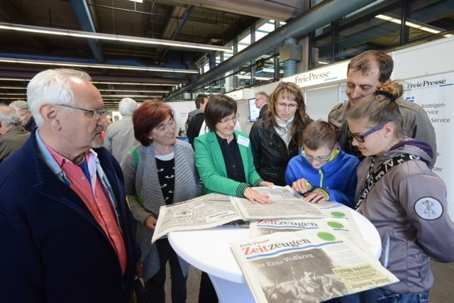 """<p> Rund 12.500 Besucher haben sich am Sonntag im Druckhaus der """"Freien Presse"""" auf eine kleine Zeitreise mit ihrer Zeitung begeben.</p>"""