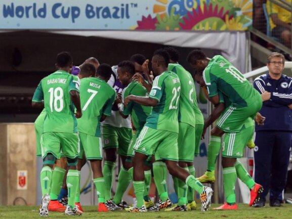 <p> 1:0 gegen Bosnien-Herzegowina:: Nach 16 Jahren konnten die Nigerianer wieder einen WM-Sieg feiern. Foto:&nbsp;Jose Coelho<br /> 22.06.2014 (dpa)</p>