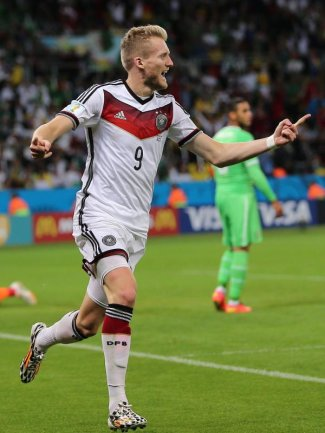 <b>Joker</b><br/>«Joker» Andre Schürrle lässt Deutschland weiter vom Weltmeistertitel träumen. Der Angreifer traf im Achtelfinale gegen Algerien in der Verlängerung zum 1:0. Foto: Mohamed Messara<br/>01.07.2014 (dpa)