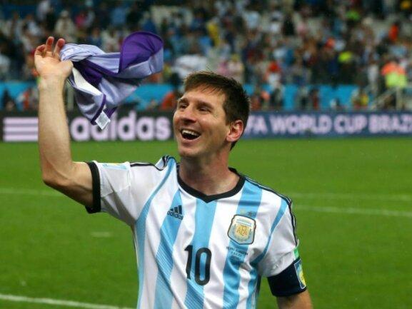 <b>Messi</b><br/>Kein Glanzlicht gesetzt, aber trotzdem immer der Held Argentiniens: Lionel Messi. Foto:Diego Azubel<br/>10.07.2014 (dpa)