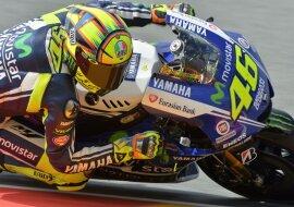 <p> Der italienische MotoGP-Fahrer Valentino Rossi vom Movistar Yamaha Team.</p>