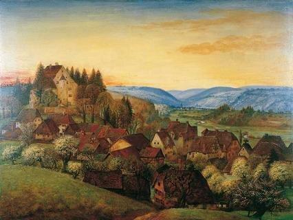 Otto Dix, Randegg – Abendstimmung (Frühlingsabend), 1936, Öl und Tempera auf Sperrholz, 60 x 80,1 cm