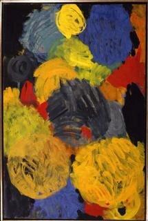 Ernst Wilhelm Nay, Gelbvariation, 1961, Öl auf Leinwand, 150 x 100 cm