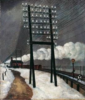 Gustav Wunderwald, Bahndamm Berlin N, um 1928, Öl auf Leinwand, 71,5 x 61,5 cm