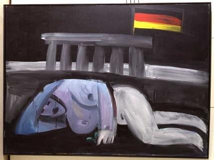 Karl Horst Hödicke, Schlaf II (Der Schlaf der Freiheit), 1986, Kunstharz auf Leinwand, 170 x 230 cm
