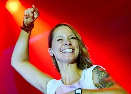 <p> Höhepunkt war der Auftritt der österreichischen Sängerin Christina Stürmer.</p>