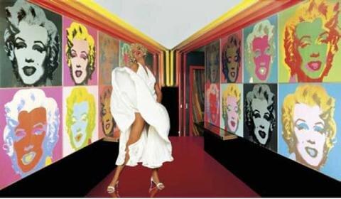 Turmzimmer, Palace Hotel, St. Moritz - mit: Andy Warhol: Marilyn Monroe.