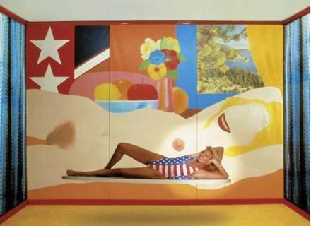 Turmzimmer, Palace Hotel, St. Moritz - mit: Tom Wesselmann: Great American Nude
