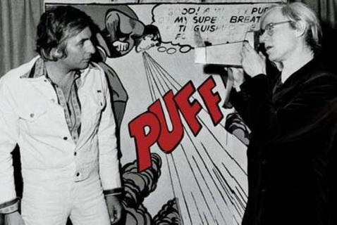 Gunter Sachs und Andy Warhol, 1972.