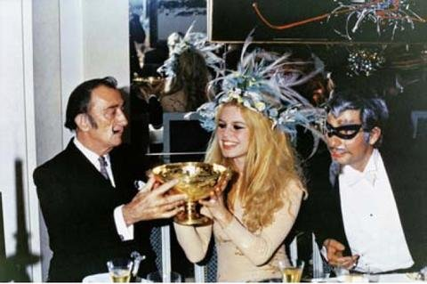 Salvador Dalí, Brigitte Bardot und Gunter Sachs