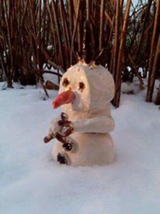<p> Paul hat einen Olaf getöpfert.</p>