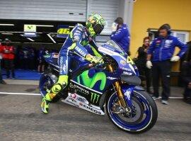 <p>Valentino Rossi beim Training.</p>