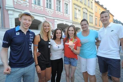 <p>Sie standen ebenfalls im Fokus: die Olympioniken aus der Stadt.</p>