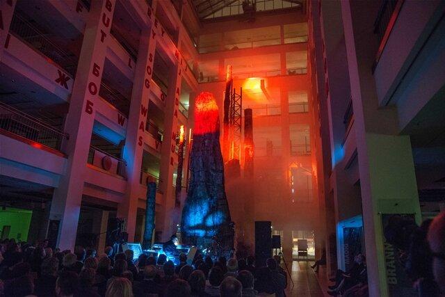 """<p>Das Livekonzert """"Petrified Forest"""" des Chemnitzer Musikers Uwe Rottluff aka """"Wellenvorm"""" hat am Samstagabend im Chemnitzer Kulturkaufhaus Tietz stattgefunden.</p>"""