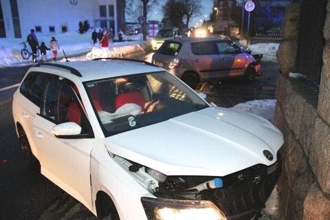 <p>Der Unfall ereignete sich an der Kreuzung Hauptstraße / Am Fuchsstein.</p>