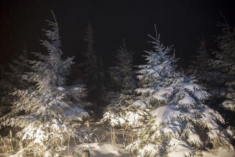 <p>Eiszeit auf dem Fichtelberg. Keine Spur von Frühling und Wärme, im Gegenteil. Montagnacht herrschten auf dem Fichtelberg minus drei Grad Celsius.</p>