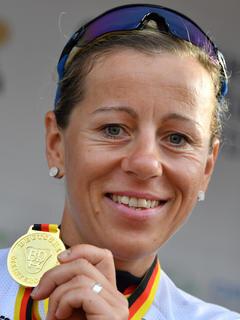 <p>Neue Deusche Meisterin im Einzelzeitfahren: Trixi Worrack vom Team Canyon SRAM Racing gewann das Rennen am Freitag.</p>