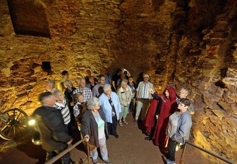 <p>Ein Besuchermagnet war die Folterkammer unter dem Schlosszugang.</p>