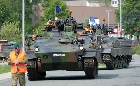 <p>Im Rahmen des NATO-Einsatzes Enhancend Forward Presence stellt es den Kern des von Juli 2017 bis Februar 2018 an der Ostflanke des NATO-Bündnisgebietes eingesetzten Gefechtsverbandes.</p>