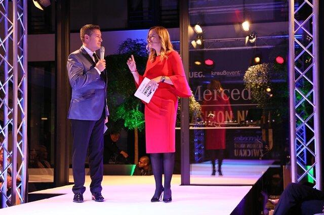 <p>Moderator Joachim Llambi mit Tina Wojnowski.</p>