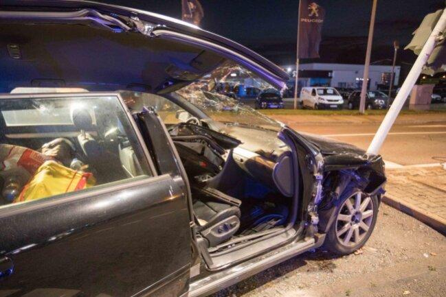 <p>Der Skoda konnte nicht mehr rechtzeitig bremsen und kollidierte mit der Beifahrerseite des Audi.</p>