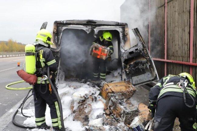 <p>Ursache für den Brand war ein technischer Defekt, teilte die Polizei mit.</p>