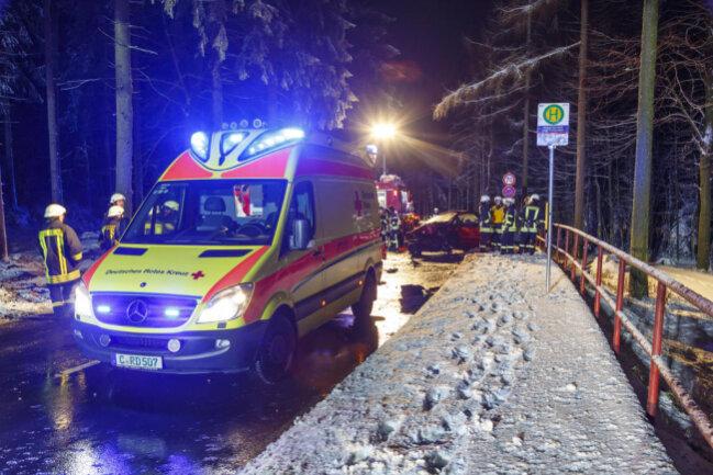 <p>Die Frau kam ins Krankenhaus. Im Einsatz waren insgesamt 40 Feuerwehrleute, Rettungsdienst und Polizei.</p>