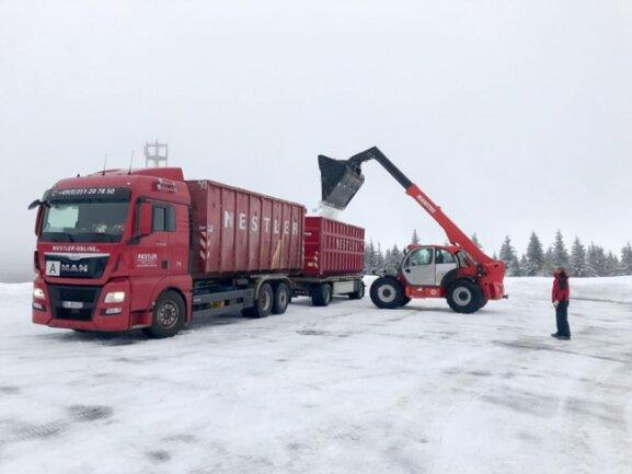 <p>In den nächsten Tagen werden weitere Schneefälle auf dem Fichtelberg erwartet.</p>