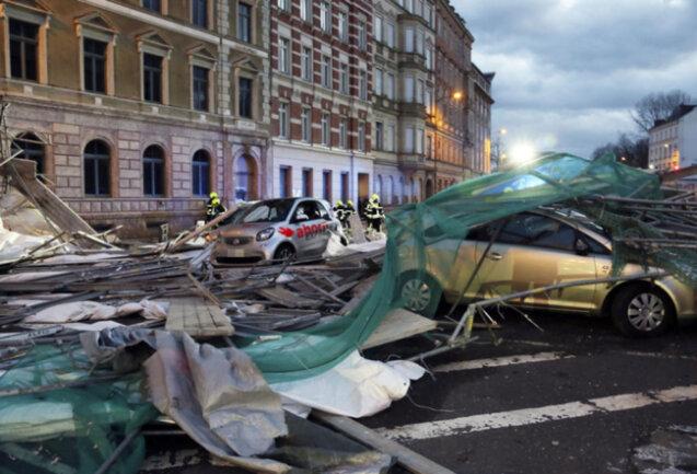 <p>Bilder der Zerstörung in Chemnitz.</p>
