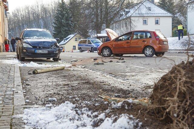 <p>Zudem sollder Ford einen kleinen Baum entwurzelt haben.</p>
