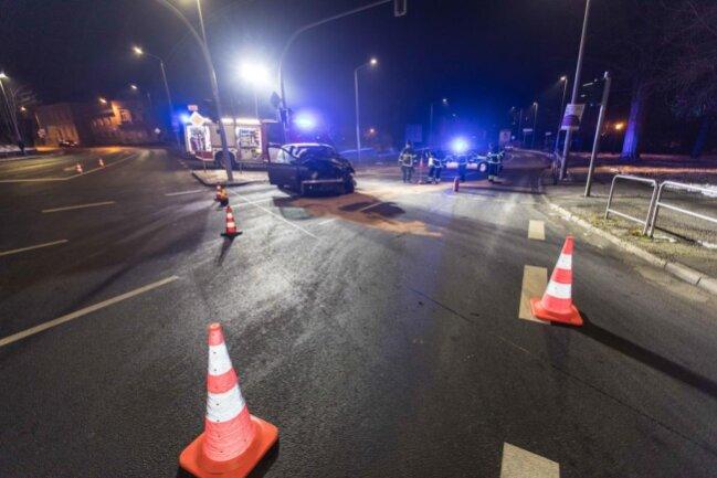 <p>Die Kreuzung war in Richtung Chemnitz für gut zwei Stunden voll gesperrt.</p>