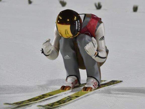 <b>Überflieger</b><br/>Etwas überraschend krönt sich Andreas Wellinger auf der Normalschanze zum Olympiasieger. Foto: Angelika Warmuth<br/>10.02.2018 (dpa)