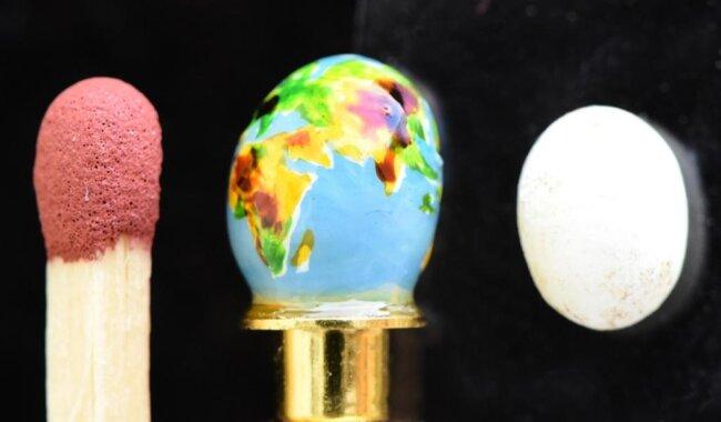 <p>Einige besonders schöne Exemplare bewahrt die Familie zusammen mit anderen Eiern aus aller Welt in einer Vitrine im Wohnzimmer auf.</p>