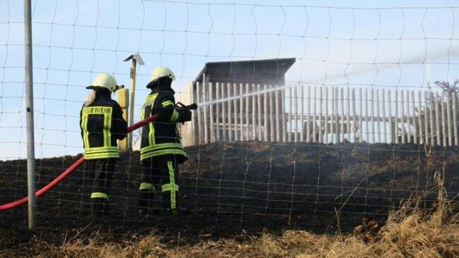 <p>Im Einsatz waren rund 30 Feuerwehrleute.</p>